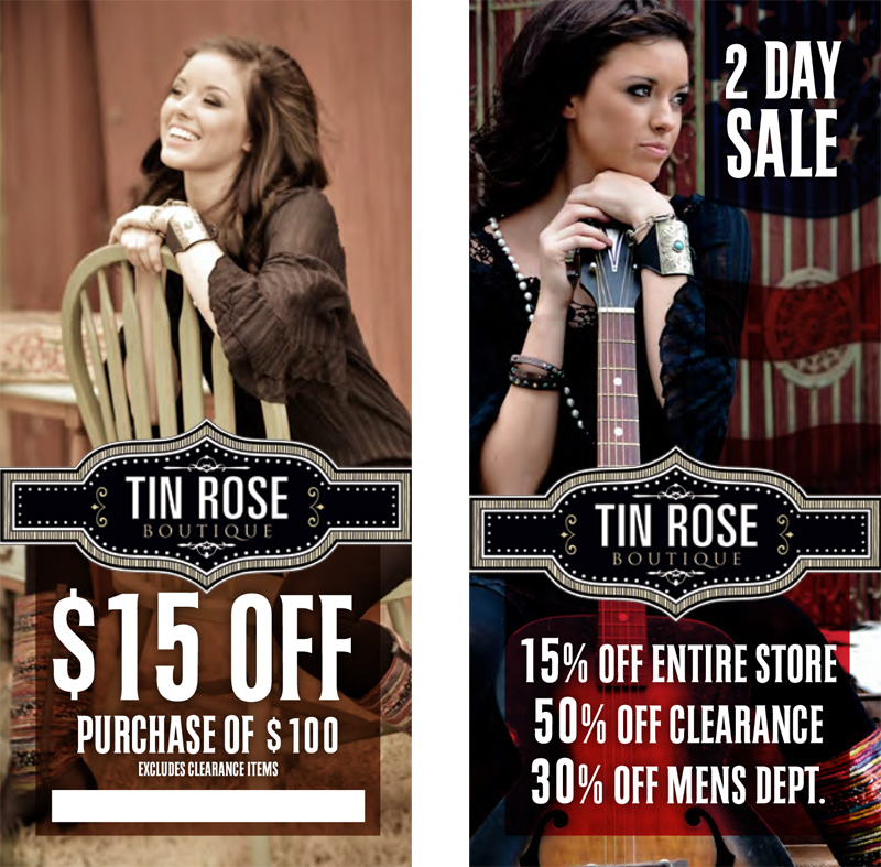 Tin Rose Coupons Flat