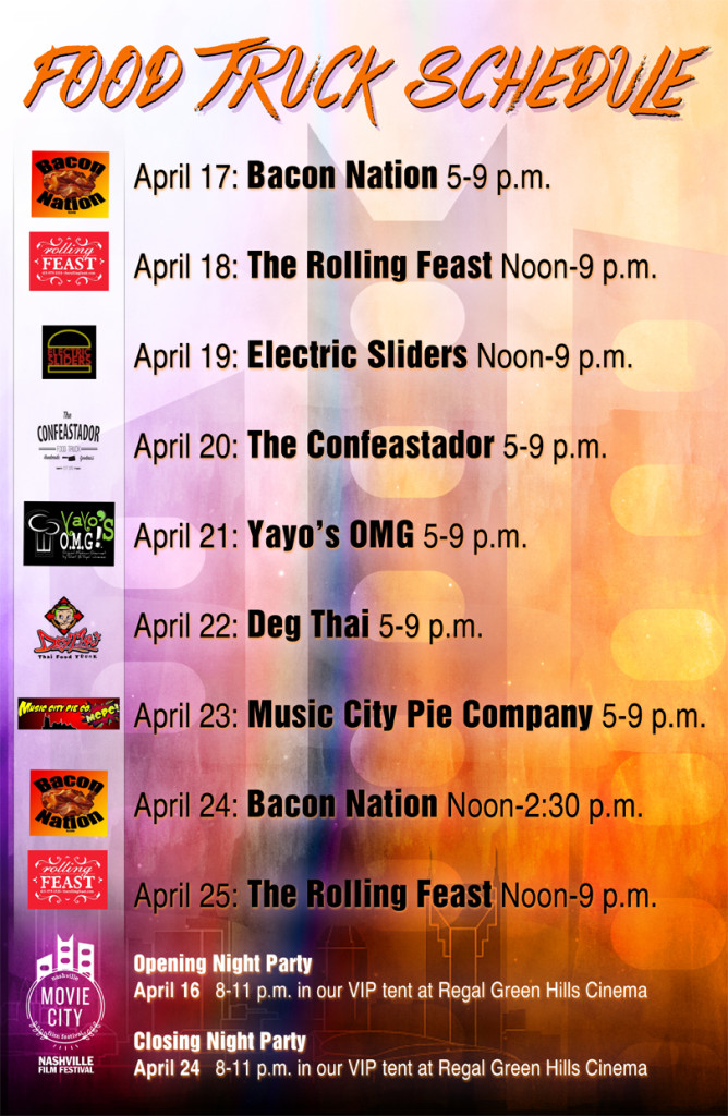 NFF Food Truck Schedule
